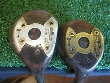 vintage Wilson wood set (1,3) persimmon golf clubs, Gene Sarazen SQUIRE MODEL