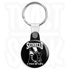 Skinhead A Way of Life - 25mm Doc Martins Keyring Button Badge, Zip Pull Option