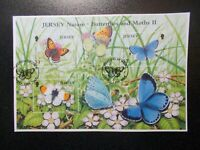 GB Jersey 2006 Commemorative Stamps~Butterflies 2~M/S~Fine Used Set~on piece~