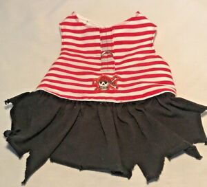 Casual Canine East Side Collection - Medium Dog Pirate Outfit Dress Red & Black