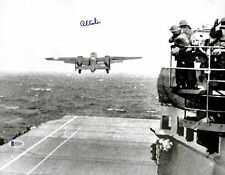 Richard E. Cole WWII Doolittle Raid Authentic Signed 11x14 Photo BAS 1