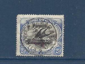 """PAPUA NEW GUINEA - 22 - USED - 1907 - """"Papua"""" O/P ON BRITISH NEW GUINEA STAMP"""