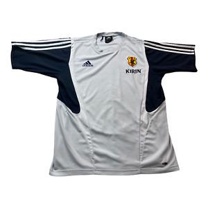 Rare Adidas Climacool JFA Japan Soccer Jersey White Short Sleeve Men's L