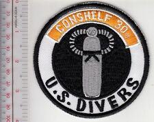 SCUBA Diving USA US Divers Aqua-Lung Conshelf 30 Regulator Patch Los Angeles, CA