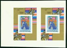 Mauritania 1980 Olympics Equestrian SS proof pair