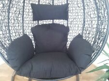 Brand New * Replacement Egg Chair Cushion set for Swing Pod Wicker Chair * Black