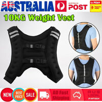 10KG Adjustable Workout Weight Weighted Vest Exercise Gym Training Fitness Sport