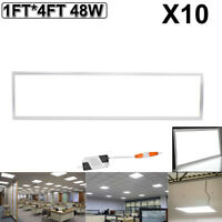 10Pcs 48W 1FTX4FT LED Troffer Panel Recessed Ceiling Light Fixture Cool White