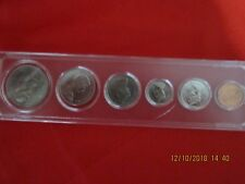 CANADIAN DOLLAR TO CENT SET OF COINS 1969 (UNC) ENCAPSULATED