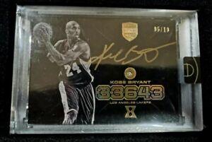 2017 Kobe Bryant Eminence Gold Auto With Geniune Diamond Card /10 (Sealed)