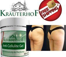 Krauterhof Anti Cellulite Gel con Caffeina Carnitina & Rosemary Extract 250ml