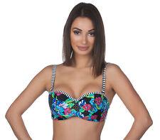 Panache Damen Elle Bügel Blumenmuster Bandeau Schwimmen Bikini Top