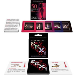 50 Positions of Bondage Playfully Kinky & Year of Sex Card Game Sex Position Toy