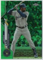 Lorenzo Cain 2020 Topps Chrome Green #153 - FREE SHIPPING