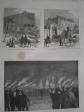 Torchlight procession to tomb of Thorwaldsen Copenhagen Denmark 1870 print