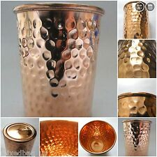 LOT OF 6 - 100% Copper 300ml Hammered Drinking Glass Cup Tumbler Mug Health Yoga