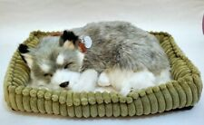 Perfect Petzzz Huggable Breathing Dog Puppy Alaskan Husky With Dog Bed - Works