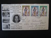 Jamaica 1954 MISS WORLD Series First Day Cover - Z4893