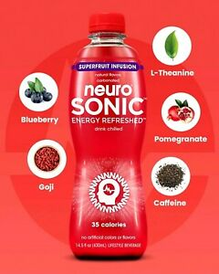 Neuro Sonic Energy Refreshed Drink Superfruit Infusion 14.5 oz ( Pack of 12 )