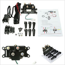 Professional Car Offroad Solenoid Relay Contactor+ Winch Rocker Thumb Switch Kit
