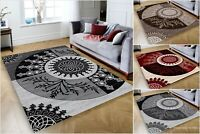 MODERN RUGS BEAUTIFUL TOP DESIGN ! CARPETS in Different Sizes ! GREY ! BLACK RED