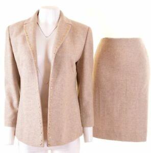 VALENTINO Womens 2 Piece Set IT 44 W30 L22 Beige Wool  KA02