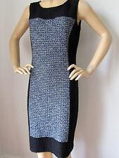 NWT St John Knit dress size 10 black tweed sheath wool rayon