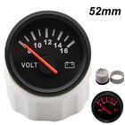 52mm Car Auto Meter Red Led Voltmeter Pointer Voltage Volt Gauge 8-16v Universal