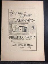 1893 Annual Report of the Alamo Philatelic Society San Antonio Texas Deats