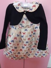 Girls Casual Collar Stylish Amigo7 Butterfly Dress Byblos Cardigan 2-3 size