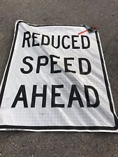 """Fluorescent Vinyl With Ribs Road Sign 48"""" X 24"""""""