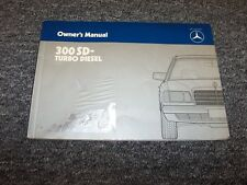 1984 Mercedes Benz 300SD Turbo Diesel Owner Owner's Operator User Guide Manual