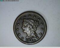 1846 Large Cent Braided Hiar ( 45-188 7m/o )