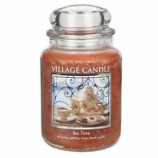 Village Candle Tea Time Large Jar Candle  NEW  26371