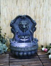 LED Fountain Garden Water Feature Indoor Outdoor Lion Statue with Lights & Water