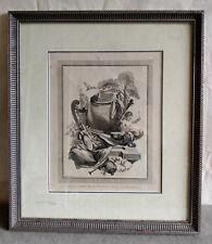 Antique Clement Pierre Marillier LA MUSIQUE Etching Engraving Art Picture