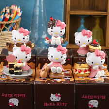 6pcs 5-8CM Cake Heme Hello Kitty Anime Figure Collect PVC Toys Gifts Blind Box