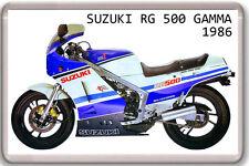 1986 SUZUKI RG 500 GAMMA FRIDGE MAGNET VINTAGE MOTORBIKE