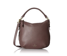 Kate Spade New York cobble hill small ella leather brown satchel 14k gold $298