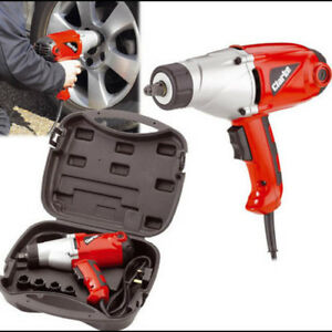 """CLARKE CEW1000 1000W ELECTRIC 1/2"""" IMPACT WRENCH 230 Volts CARRY CASE 6480300"""