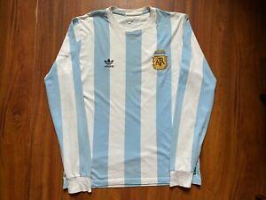 ARGENTINA FOOTBALL SHIRT ADIDAS LONG SLEEVE NATIONAL TEAM SIZE XL