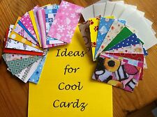 Cool Cardz Refill Pk 25 Pouches and Fun Inserts PLUS  Fab Cool Cardz IDEAS Sheet