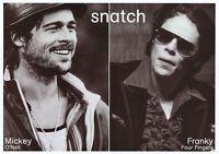 SNATCH ~ DUO 20x28 MOVIE POSTER Brad Pitt Benicio Del Toro NEW/ROLLED!