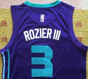 "Terry Rozier Signed Autograph Charlotte Hornets Jersey ""Scary Terry"" USA NBA"