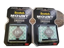 New listing 3M 311P Scotch Indoor Permanent Mounting Double-Sided Squares Tape (2 Packs)