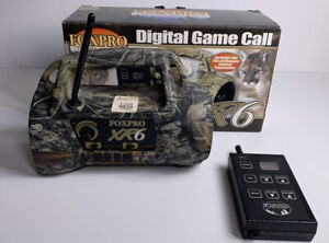 Retro FOXPRO Model XR6 With Remote; Camouflage 16 Sounds Game Call WORKS *RARE*