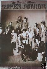 "SUPER JUNIOR ""SECOND ALBUM-SEPIA COLORED GROUP SHOT"" ASIAN POSTER - Korean K-Pop"