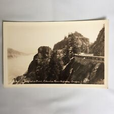 RPPC Real Photo Unposted Postcard Inspiration Point Columbia River  Oregon