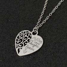 """""""Mother and Daughter Forever"""" Heart Shaped Chain/Necklace & Pendant Set - Gift"""