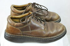Mens BORN leather casual shoes brown sz 9M hand crafted footwear